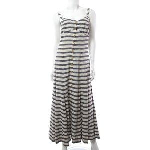 Maeve Anthropologie Striped Maxi Dress Blue White